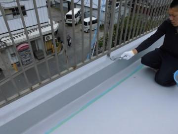 15:立面ウレタン防水・トップコート