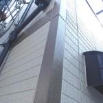 サイディング塗装施工後ライン